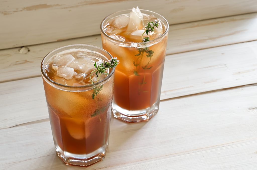 thé glacé plante du jardin thym